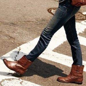 Frye Anna Shortie Boots - Cognac